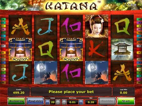 Katana free slot