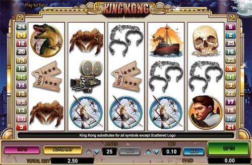 King Kong free slot