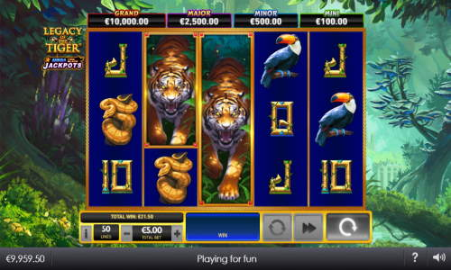Legacy of the Tigerjackpot slot