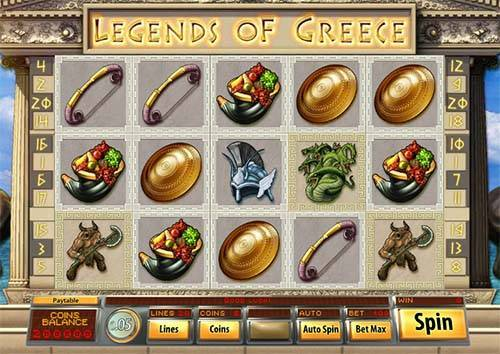 Legends of Greece free slot