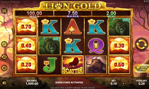 Lion Goldjackpot slot
