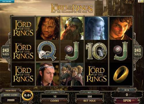 Lord of the Rings Jackpot free slot