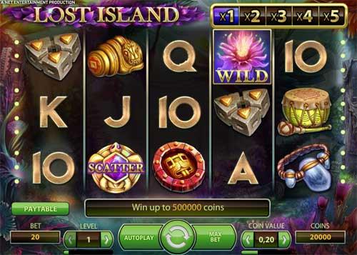 Lost Islandsticky wilds slot