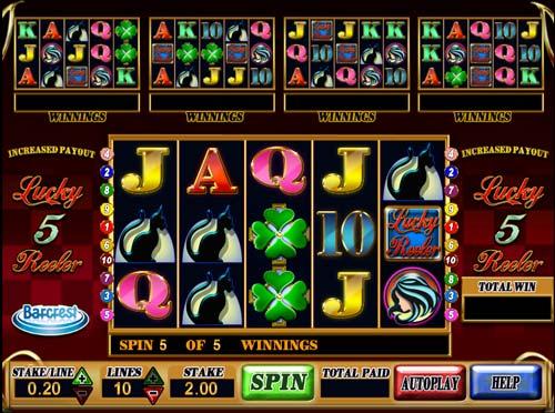 Lucky 5 Reeler free slot
