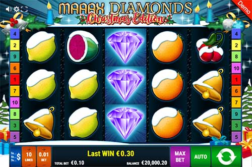 Maaax Diamonds Christmas Edition free slot