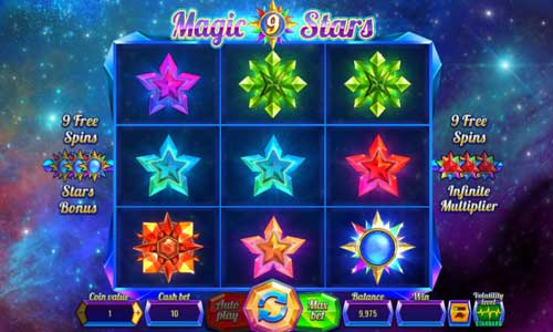 Magic Stars 9sticky wilds slot
