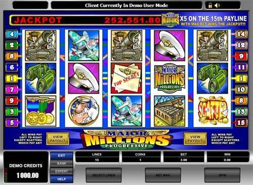 Major Millions free slot