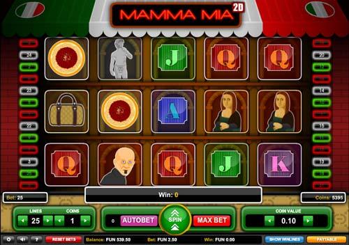 Mamma Mia 2D free slot