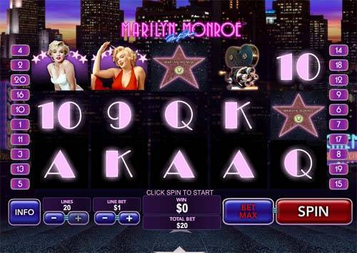 Marilyn Monroe casino slot