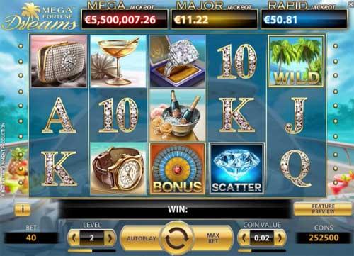 Mega Fortune Dreamssticky wilds slot