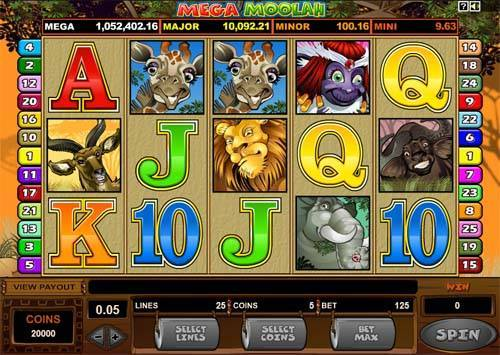 Mega Moolah free slot
