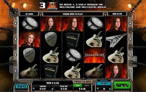 Megadeth free slot