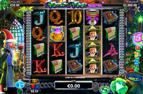 Merlins Magic Respins Christmas free slot