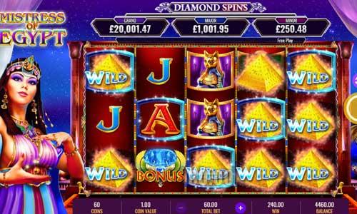Mistress of Egypt Diamond Spins casino slot
