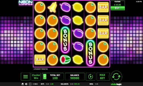 Neon Cluster Wins slot