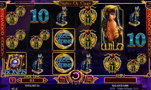Nights of Egypt Expanded Edition new slot