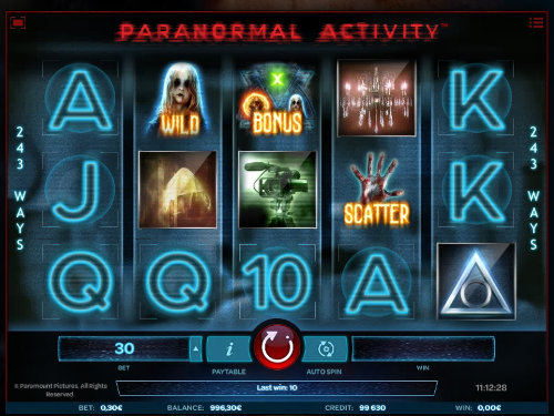 Paranormal Activity free slot