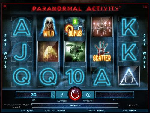 Paranormal Activity free slot