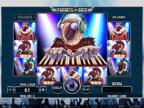 Parrots Rockcolossal symbols slot