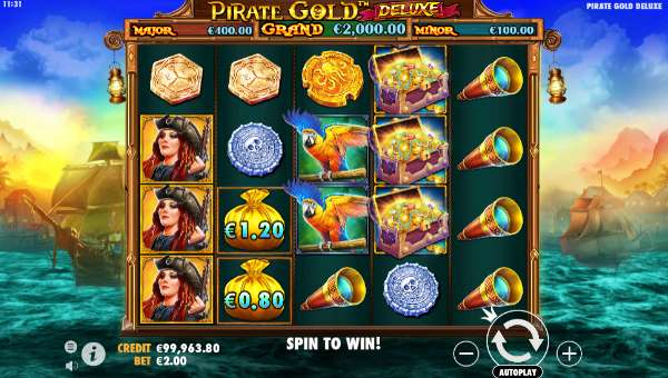 Pirate Gold Deluxebuy feature slot