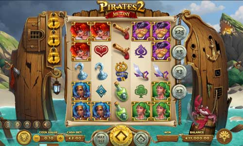 Pirates 2 Mutinycluster pays slot