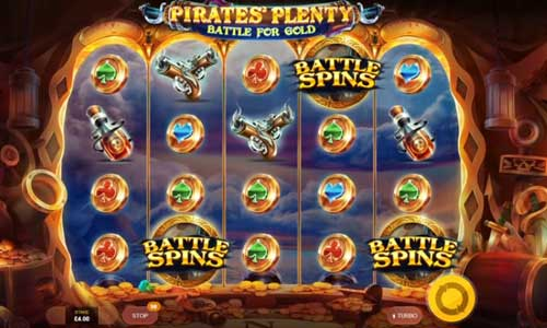 Pirates Plenty 2 Battle for Goldexpanding reels slot