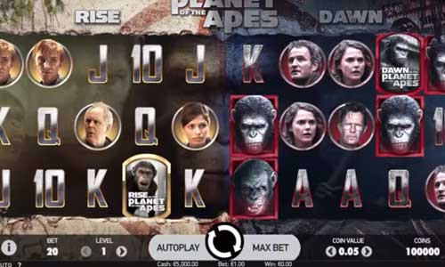 Planet of the Apes free slot