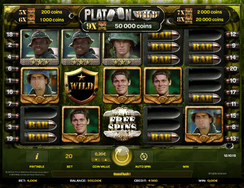 Platoon Wild free slot