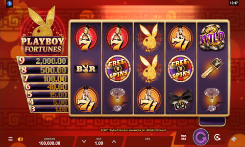 Playboy Fortunes free slot