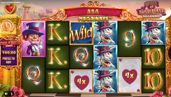 Queen of Wonderland Megawaysincreasing multiplier slot