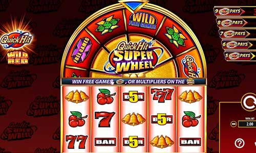 Quick Hit Super Wheel Wild Red free slot