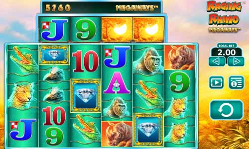 Raging Rhino Megaways free slot