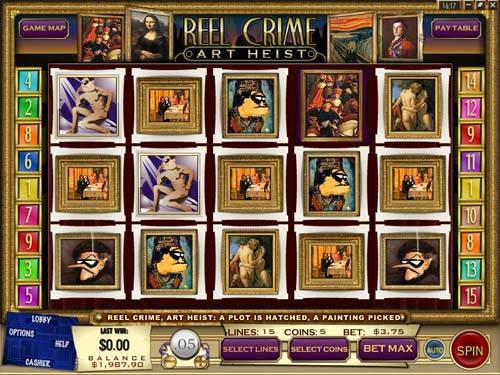 Reel Crime 2 Art Heist free slot