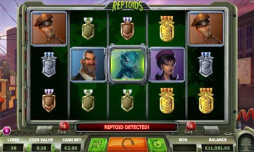 Reptoids free slot