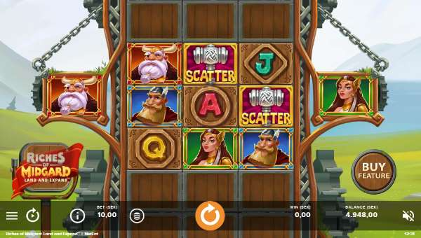 Riches of Midgard Land and Expandexpanding reels slot