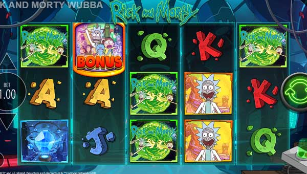 Rick and Morty Wubba Lubba Dub free slot