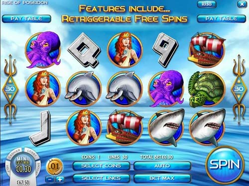 Rise of Poseidon free slot