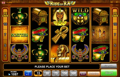 play online casino slots bock of ra