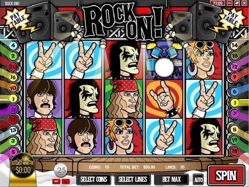 Rock On free slot