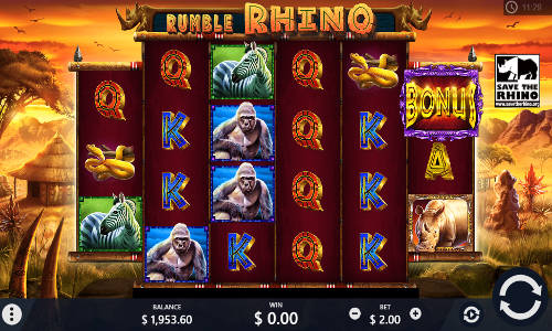 Rumble Rhino free slot