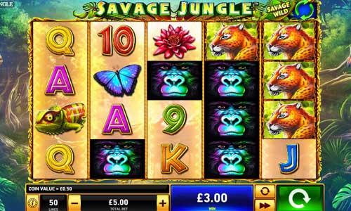 Savage Junglesticky wilds slot