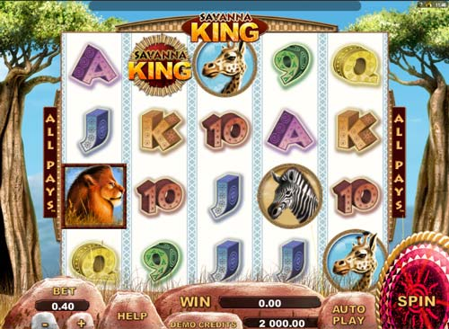 Savanna King free slot