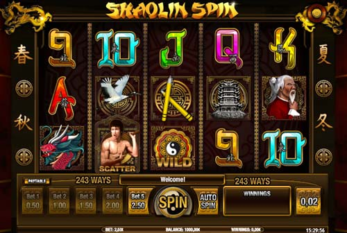 Shaolin Spin free slot