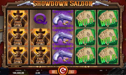 Showdown Saloon free slot