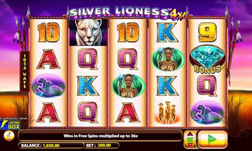 Silver Lioness 4x free slot