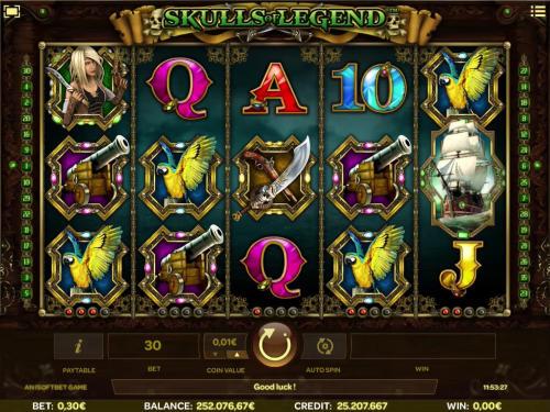 Skulls of Legend free slot