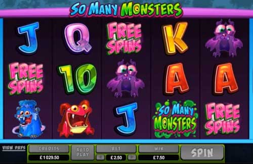So Many Monsters free slot