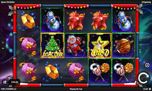 Space Christmas free slot