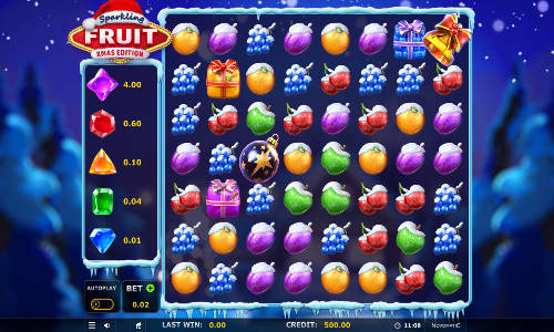 Sparkling Fruit Xmas Editioncluster pays slot