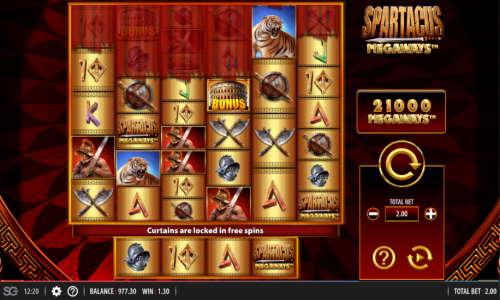 Spartacus Megaways free slot